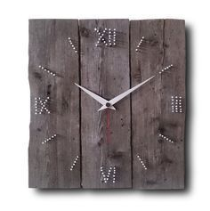 WOOD&NAIL, Wall clock, Home decor, Original clock, Hand made clock, design clock, clock, rustic clock, clocks, unique wall clock