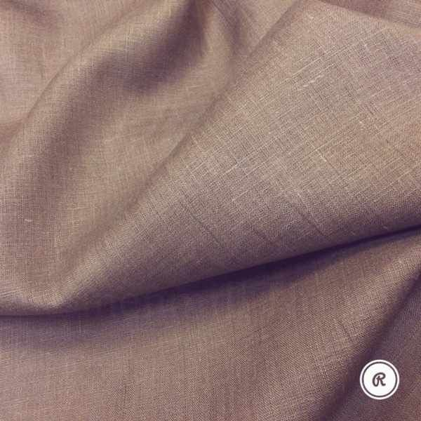 150 см. Лён-Батист Палевый коричневый 125 г/м