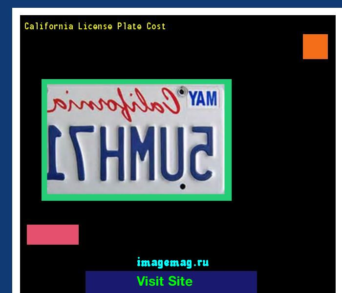 California license plate cost 184907 - The Best Image Search