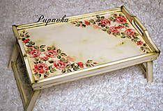 Nádoby - Servirovací stolík ruže vintage - 4923821_