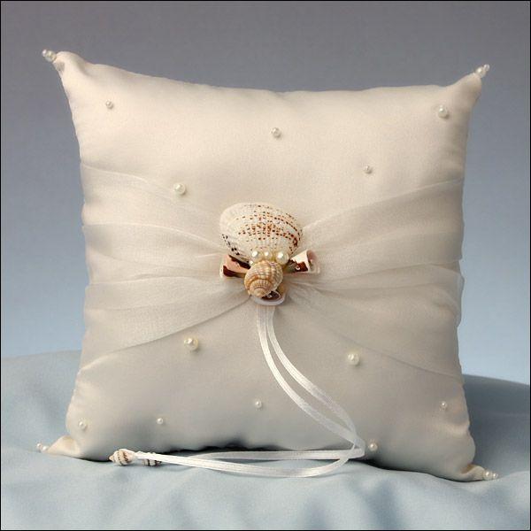 Silk Wedding Flowers & Wedding Accessories: Ring Bearer Pillow - Oceans AWay, Ring Bearer Pillows, 047-RP440