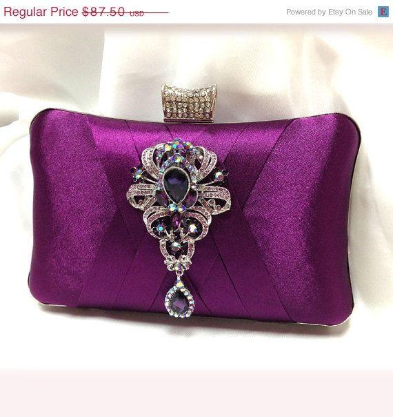wedding clutch Bridal clutch Purple clutch evening by GlamDuchess, $70.00