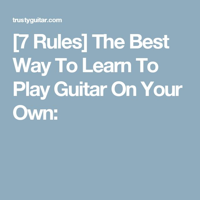 how to learn guitar at home pdf free
