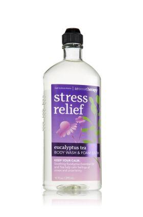 Stress Relief - Eucalyptus Tea Body Wash & Foam Bath - Aromatherapy - Bath & Body Works