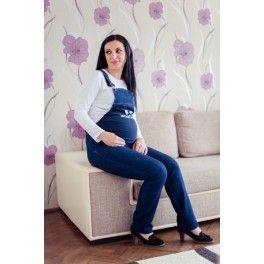 Salopeta Jeans pentru Gravide
