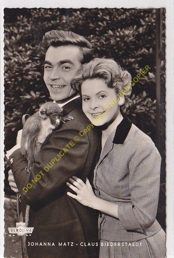 RPPC STAR JOHANNA MATZ & CLAUS BIEDERSTAEDT Foto WESEL BEROLINA FILM