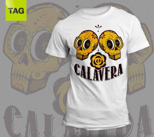 T-shirt-Tees-Mexican-Skull-CALAVERA-Vintage-man-maglia-teschio-messicano-uomo