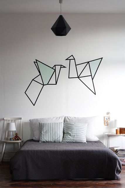 Decorando paredes com fita isolante - Reciclar e Decorar : decoração com ideias fáceis