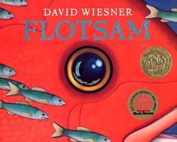 Flotsam by David Wiesner. 2007 Caldecott Medal Award winner. A wordless story of a young boy at the beach who finds an underwater camera and the secrets it holds