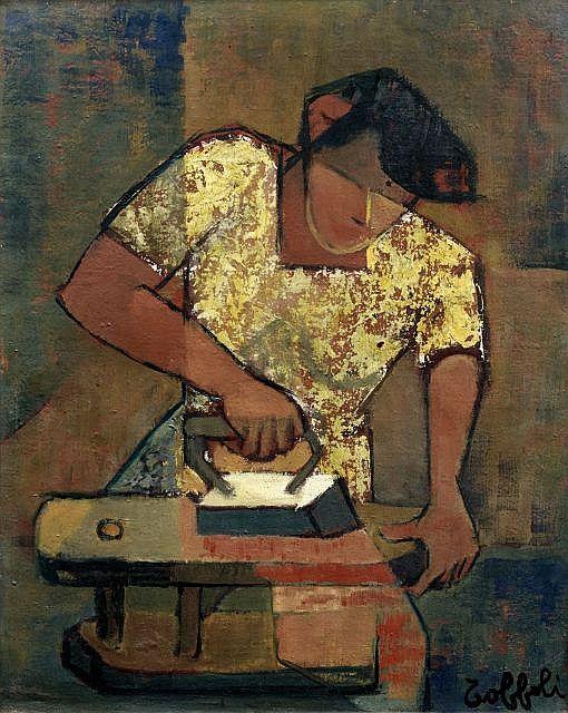 La Repasseuse by Louis Toffoli (1907-1999)