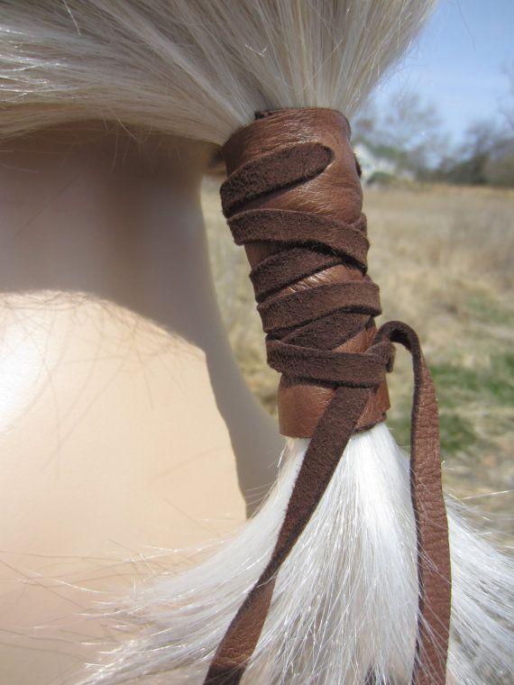 Pferdeschwanz Inhaber Haar Krawatte braun Leder von Vacationhouse