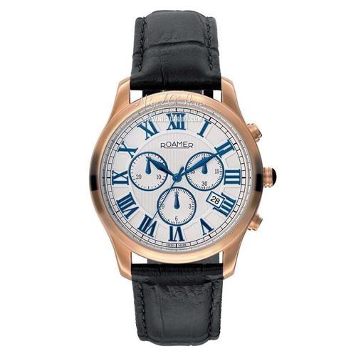 Roamer Mens Osiris Chrono Rose Gold Plated Watch - 530837 49 12 05 - £345 - View this watch here: http://www.nigelohara.com/roamer-mens-osiris-chrono-rose-gold-plated-watch-530837-49-12-05-pid21096.html Or view our full Roamer watch range here: http://www.nigelohara.com/roamer-watches/