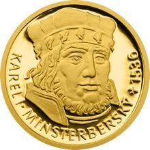 Sada 4 zlatých mincí 5 NZD Šlechtický rod pánů z Kunštátu a Poděbrad proof
