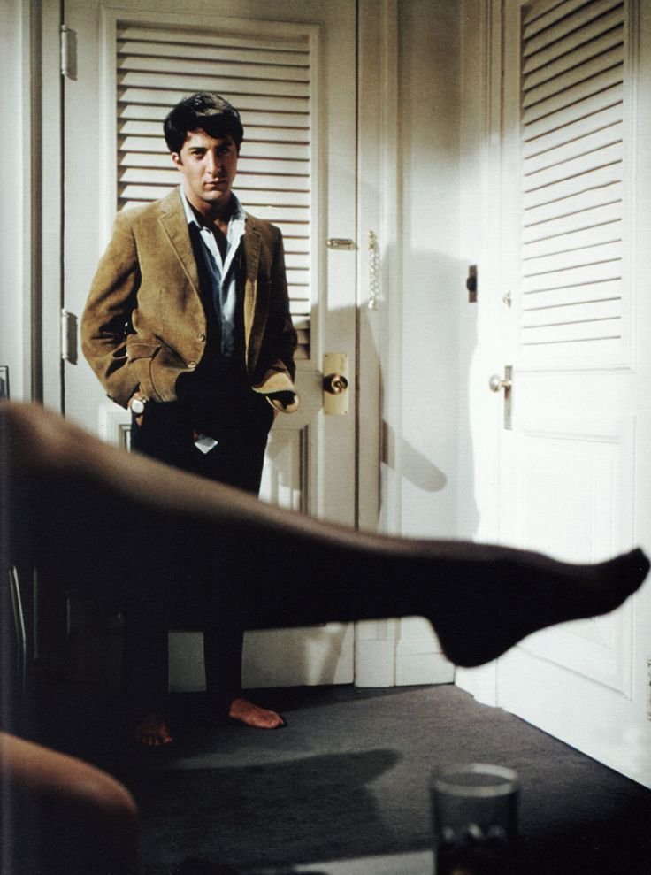 "Dustin Hoffman as Ben Braddock in ""The Graduate"" (1967) - one of my all time faves"