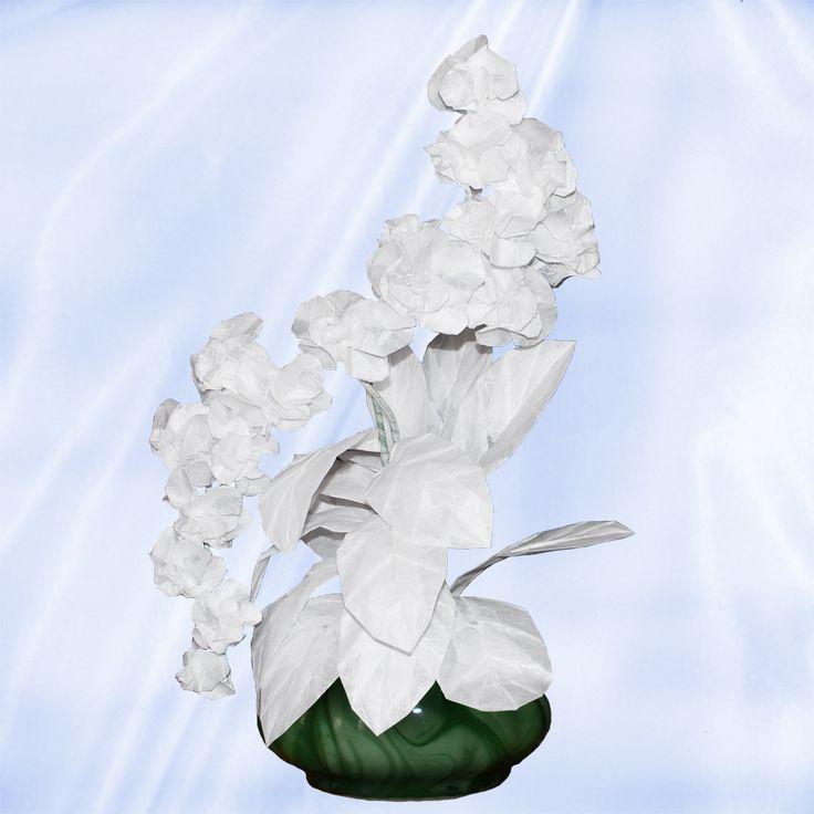 17 best origami arrangements images on pinterest orchid origami orchid origami floral arrangements 32 folded elements origami flower mightylinksfo