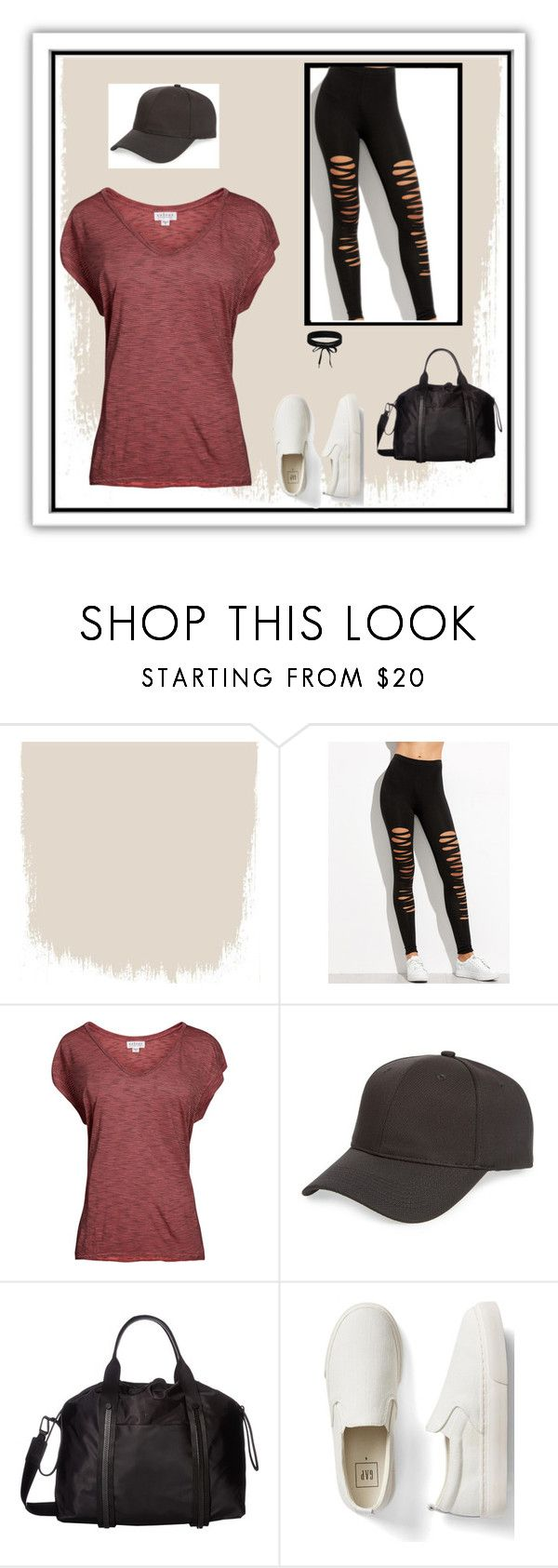 """""""All Athleisure All Day"""" by vintagefringe on Polyvore featuring Velvet by Graham & Spencer, Topshop, Cole Haan, Gap and Boohoo"""