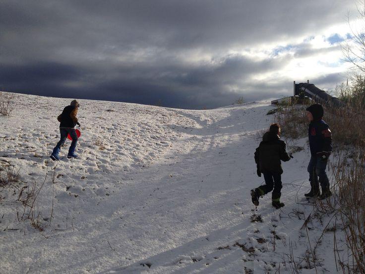 Sneeuwpret bij Netl de Wildste Tuin