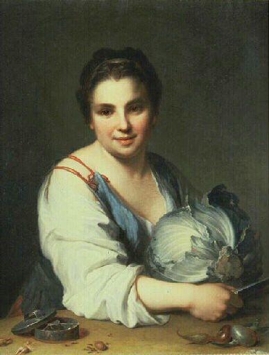 Santerre JeanBaptiste, Coupeuse de choux, début 18e
