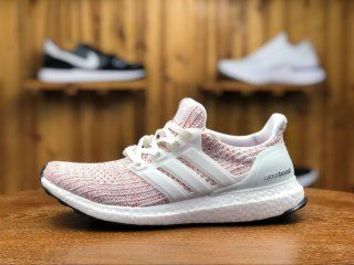 new product 32808 5afcb Adidas Ultra Boost 4. 0 Candy Cane Ftw White Scarlet BB6169 Womens Running  Shoes