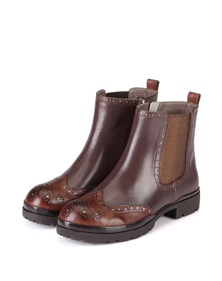 Houston Brogue Boot – Genkek Shoes