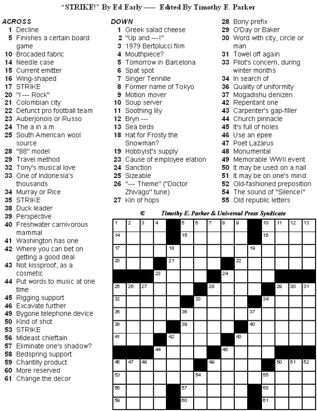 Witty image intended for fun crossword puzzles printable