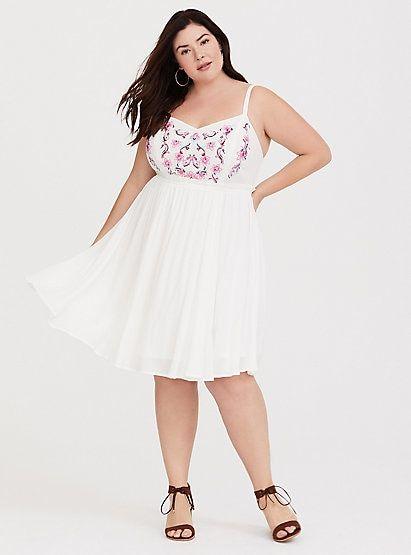 110853e512c62 White Embroidered Gauze Mini Dress, CLOUD DANCER, alternate   white ...