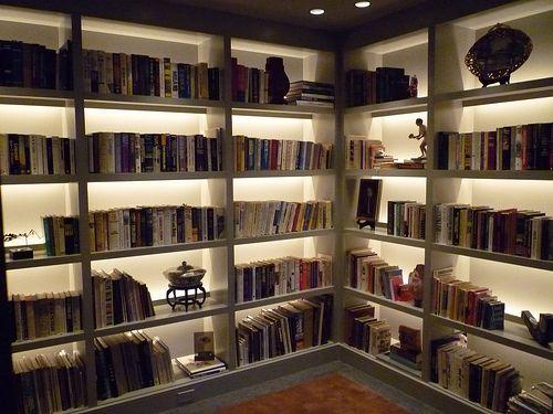 Backlit Bookshelves
