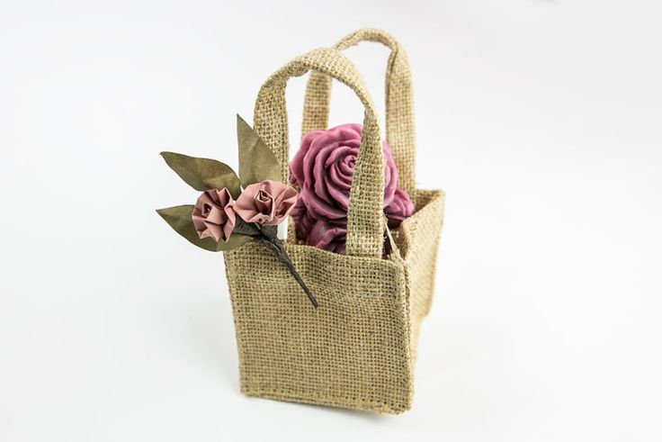 Hand crafted single soap with Hessian bag, $15.00