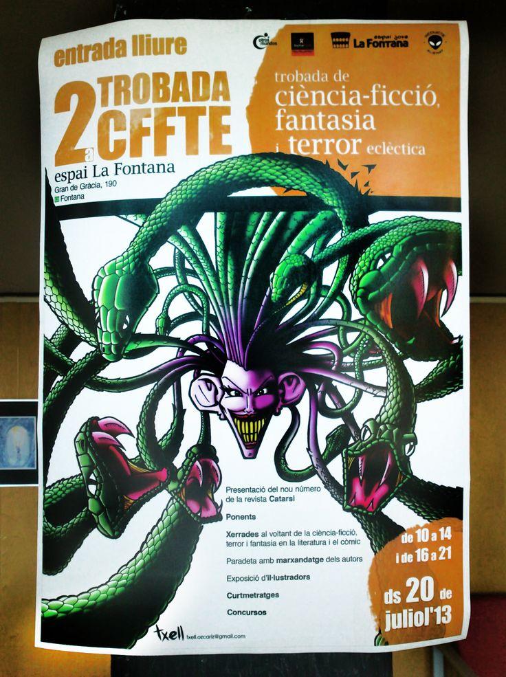 Cartel para el 2º encuentro CFFTE.  Julio 2013