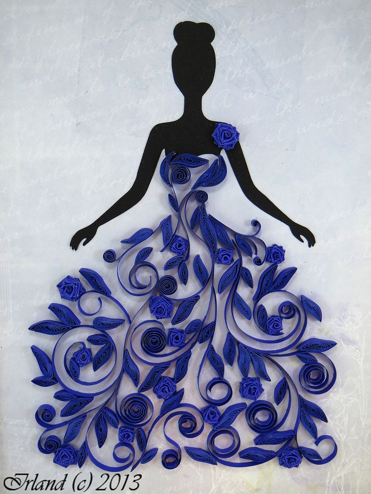 Quilled Dress by Irland (Irina from Russia), via homyachok