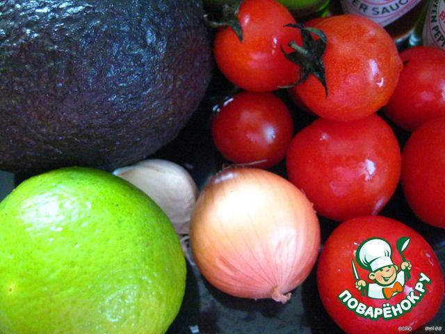 """Мексиканский   соус   """"Гуакамоле"""" ингредиенты"""