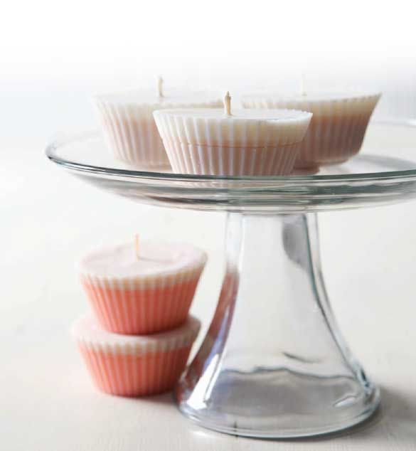 How to Make a Candle: Cupcake Candles by Rebecca Ittner on Mother Earth Living, Feb. 2011