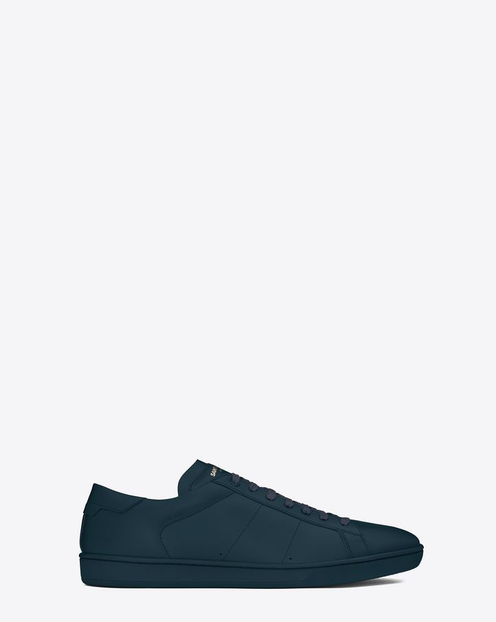 Low Sneakers  SL/01 COURT CLASSIC SNEAKER IN INDIGO LEATHER