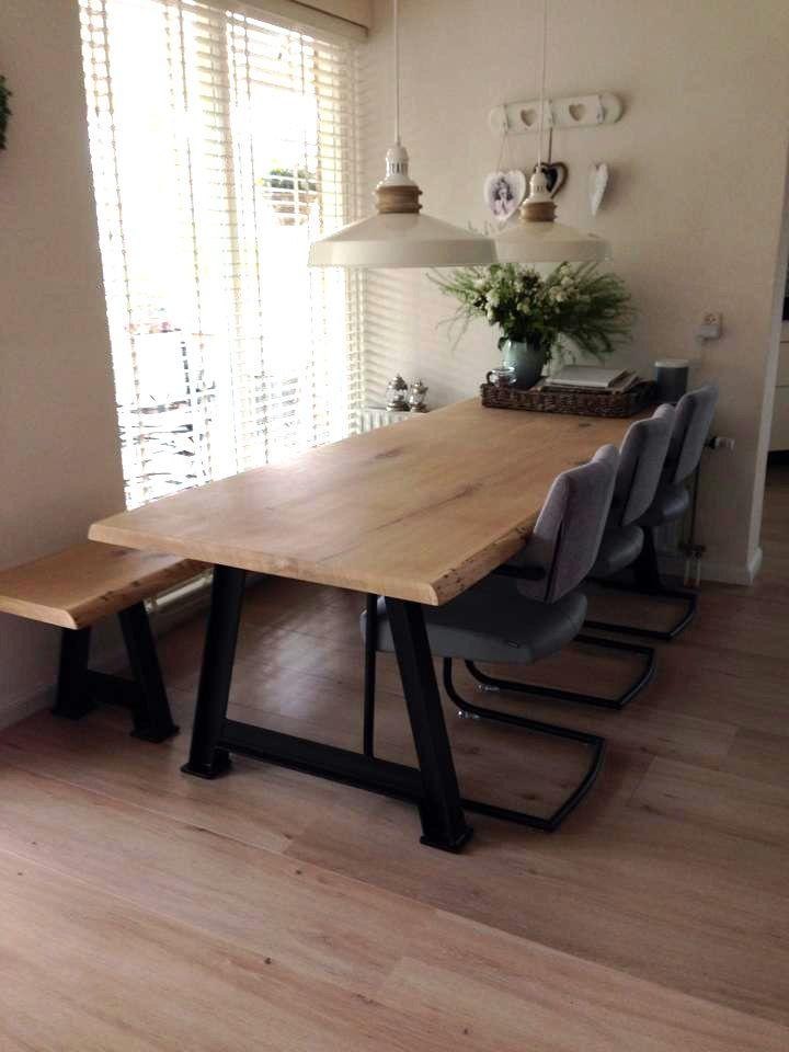 25 beste idee n over boomstam tafel op pinterest houten for Tafel ontwerp