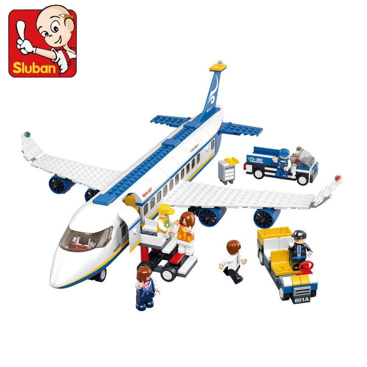 Sluban Air Plane Building Blocks Set Model 463+pcs Enlighten Educational DIY Construction Bricks Toys For Children