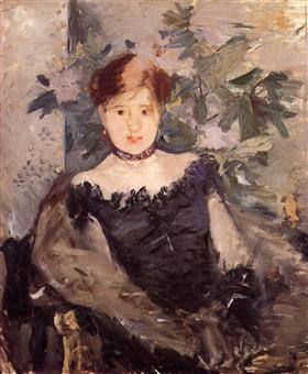 Woman in Black - Berthe Morisot