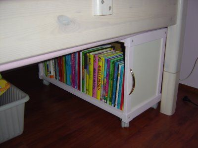 Underbed book case from Ikea units