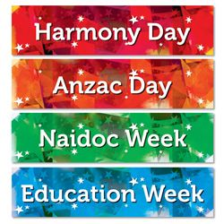 Library Events Laminated Banners