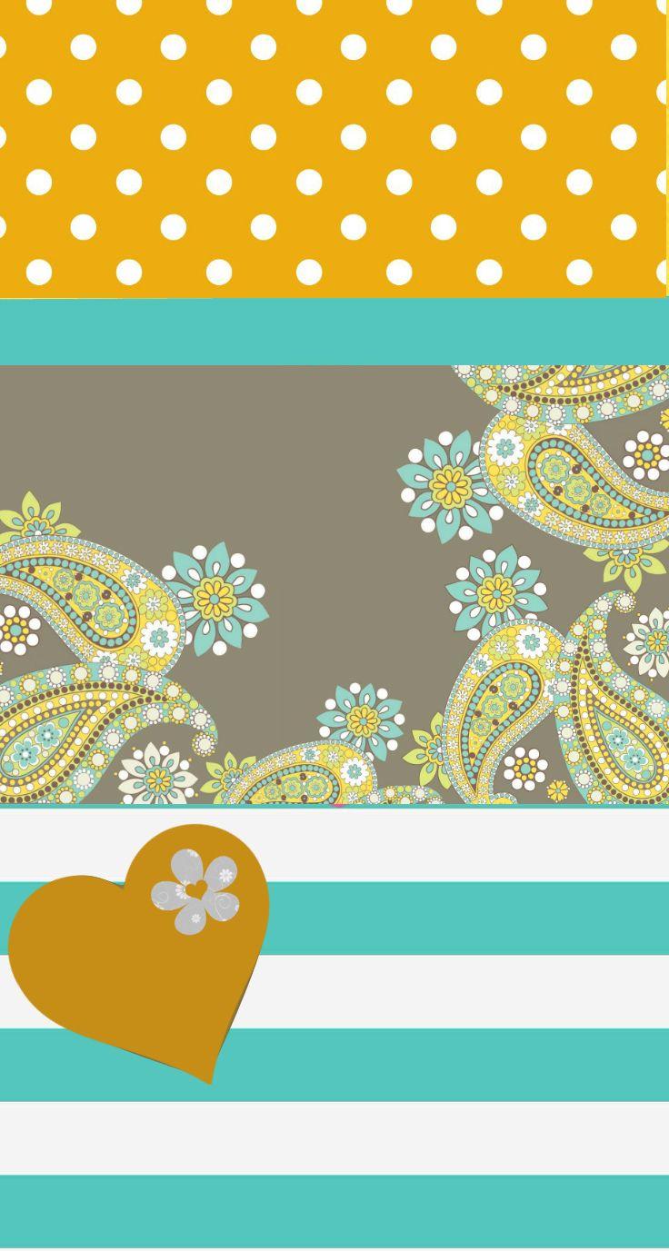 Ethnic iphone wallpaper - Yellow Paisley Phone Backgroundsiphone
