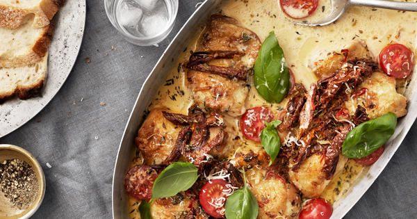 Krämig italiensk kycklinggratäng