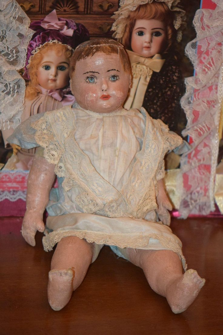 Antique Doll Alabama Baby Oil Cloth Doll Marked Body SWEET! Ella Smith Barefoot