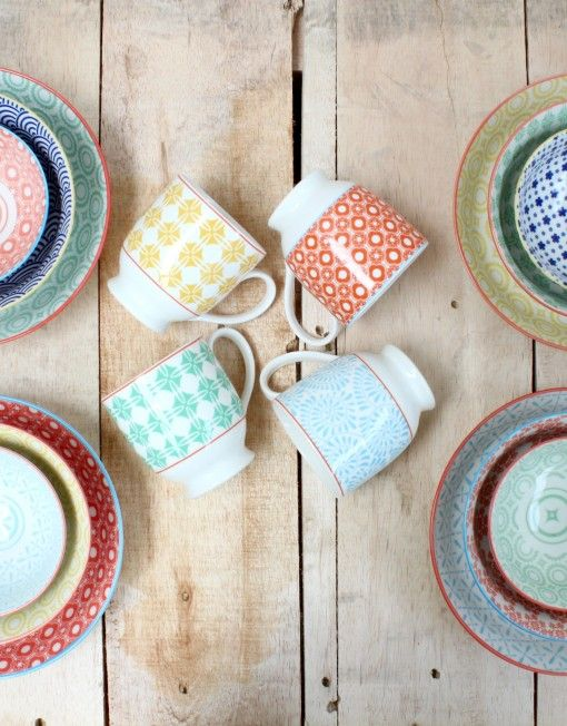 Amazing new patterned crockery from $9
