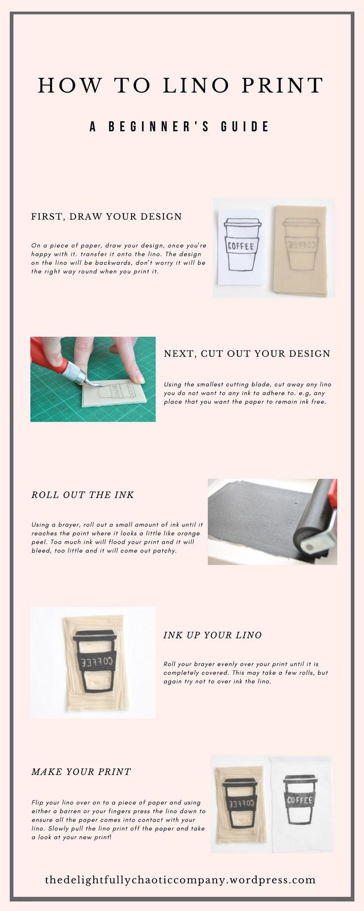 How To Lino Print | Block Printing | Tutorial | How to | Learn to lino cut | Learn to block print | Delightfully Chaotic Company | Wordpress Blog
