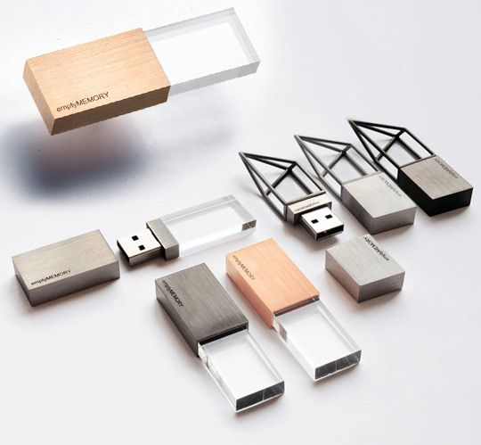 If the pastel shades of the Kähler USB jewelry weren't to your liking, perhaps these hand polished stainless steel sculptural memory sticks by Logical Art will do it for you in the avant garde tech department.
