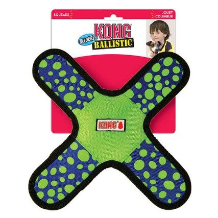 Brinquedo Kong para Cães Ballistic Gliderz Assort - Azul e Verde. #kong #brinquedokong #brinquedokongparacaes #petmeupet #cachorro #filhode4patas #maedepet