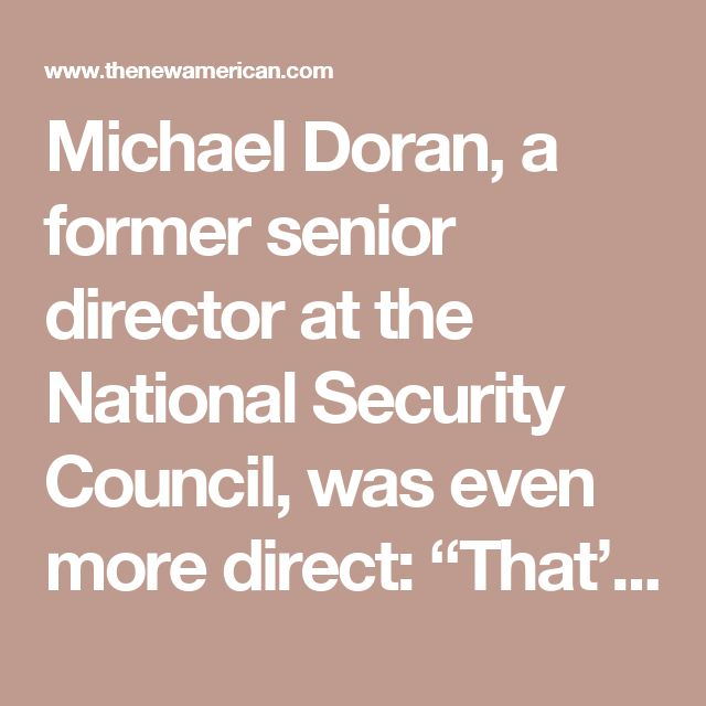 """Michael Doran, a former senior director at the National Security Council, was even more direct: """"That's a felony,"""" Doran said of the leaking of """"signal intelligence,"""" adding, """"And you can get 10 years for that. It is a tremendous abuse of the system. We're not supposed to be monitoring American citizens."""" Doran charged that """"somebody blew a hole in the wall between national security secrets and partisan politics."""""""