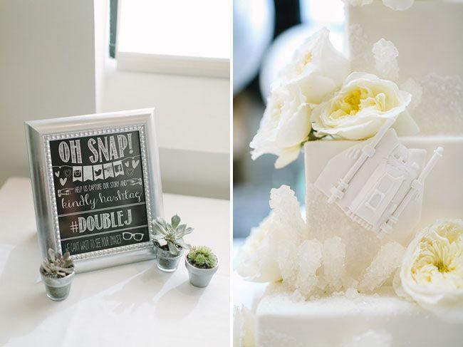 star wars inspired cake // Star Wars Inspired Wedding: Jennifer + Joshua