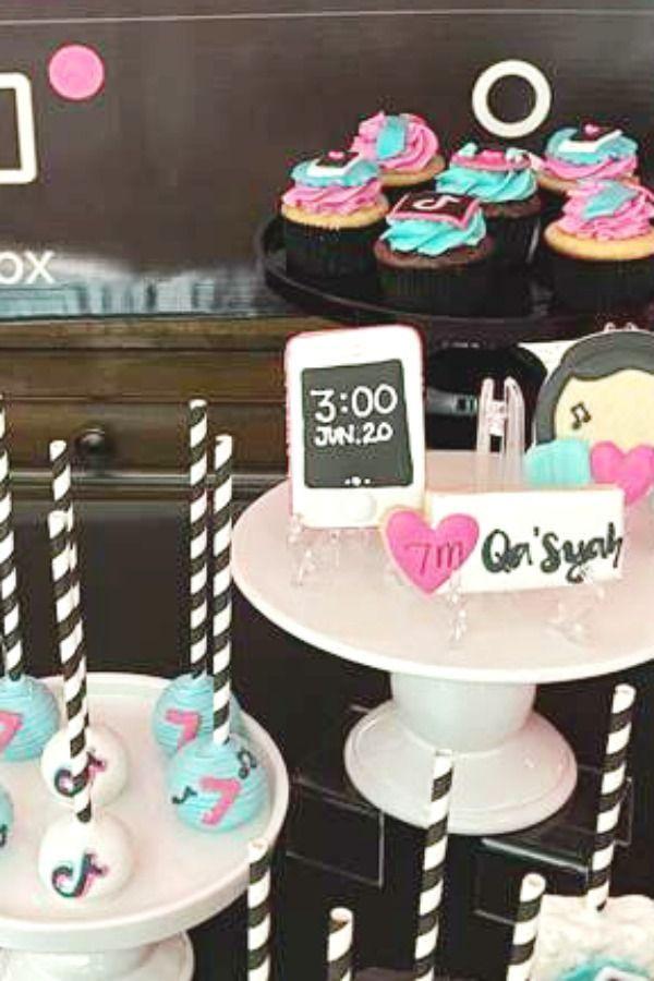 Tiktok Inspired Theme Birthday Party Ideas Photo 7 Of 27 Cool Birthday Cakes Birthday Cake Pops 13 Birthday Cake