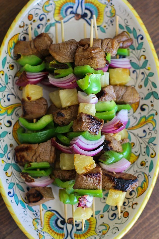 You can cook shish kabobs on a George Foreman Grill.