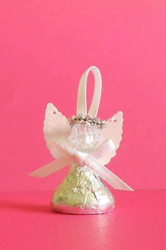 Chocolate Candy Angel Favor de bautizo Favor por SandycraftsOnline